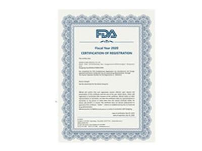 美国FDA注册证书:(含口罩产品的注册编码)